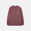 BURGUNDY SQUARE LONG TEE
