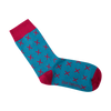 Cyan Tropic Socks