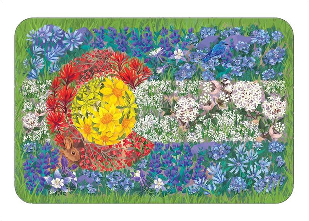 Colorado Wildflower Flag Sticker