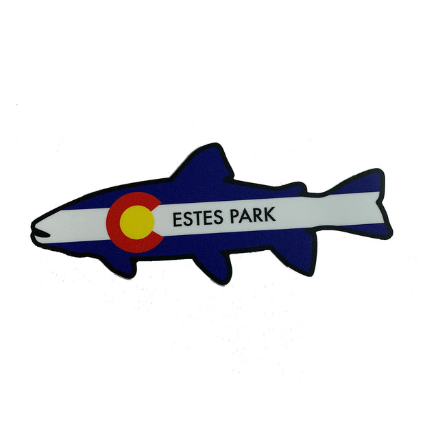 Colorado Flag Trout Silhouette Sticker
