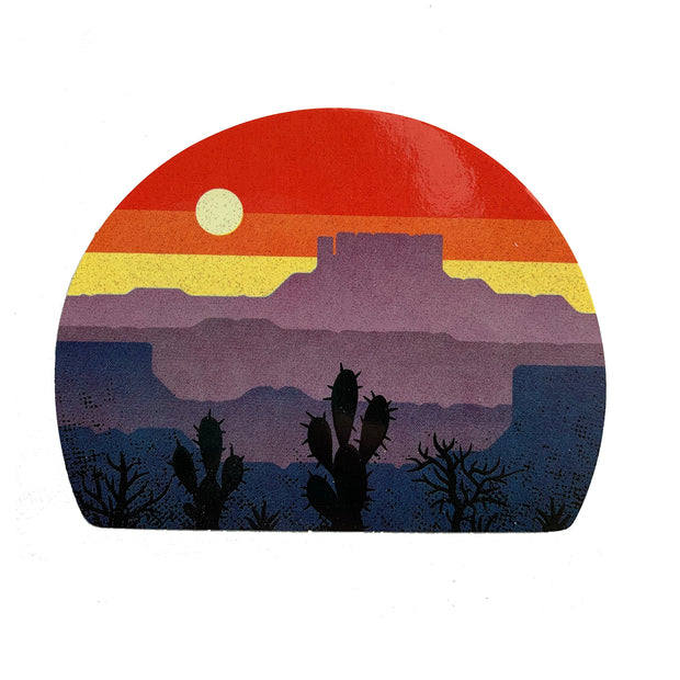 Desert Layers Sticker