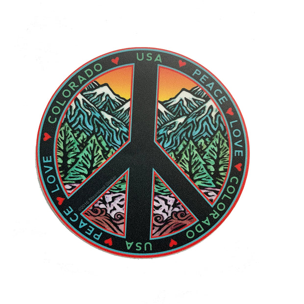Peace Love Colorado Sticker