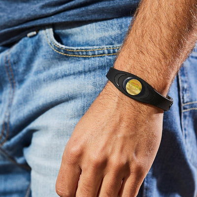 Ion Core Bracelet Black with Gold Black & Gold Ion Core Bracelet
