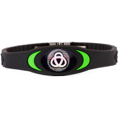 MOTIVATOR_HIDDEN_PRODUCT Black with Green Black & Green Ion Core Bracelet