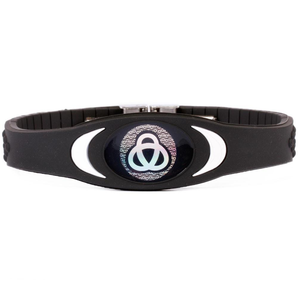 Ion Core Bracelet Black with White Black Ion Core Bracelet