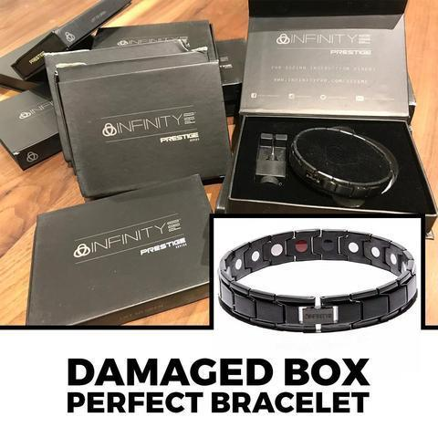 DAMAGED BOXES Black Titancore Titanium Magnetic Bracelet