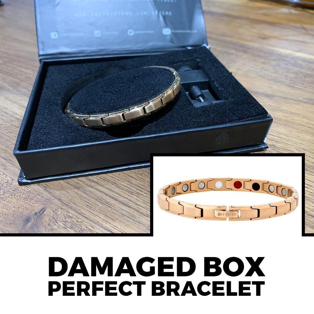 DAMAGED BOXES Slimline Rose Gold Titancore Titanium Magnetic Bracelet