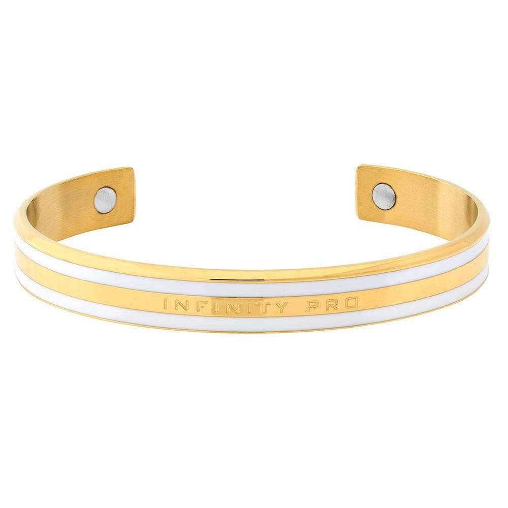 Gold Cuff Magnetic Ceramic Bracelet