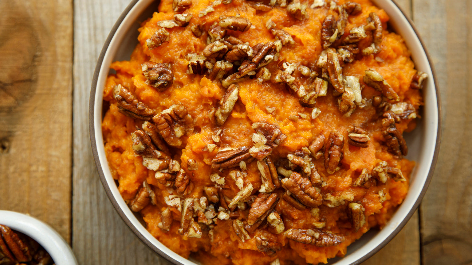Coconut Mashed Yams with Maple Pecan Crust