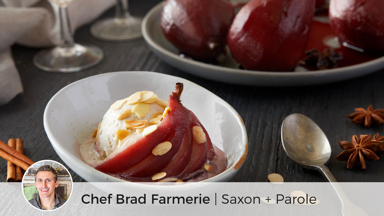 Spicy Red Wine Poached Pears