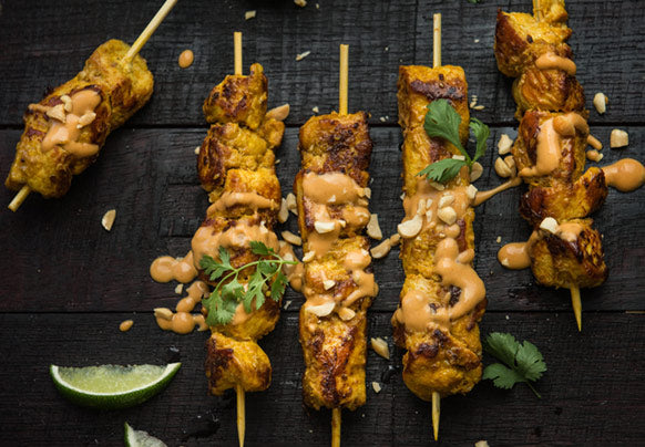 Chicken Satay with Thai Peanut Sauce