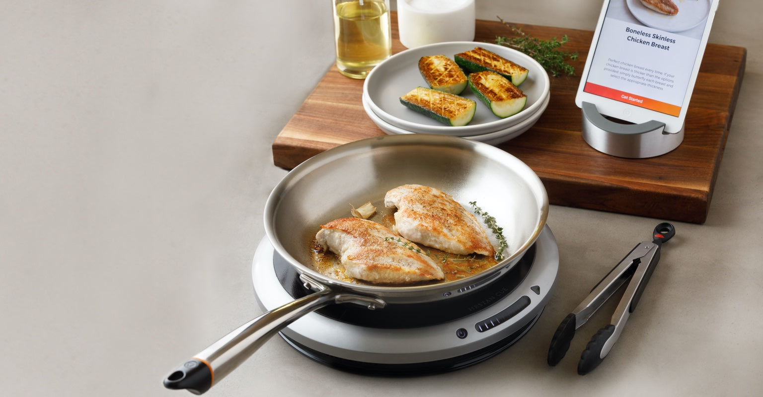 Hestan Cue Smart Cooking System with salmon