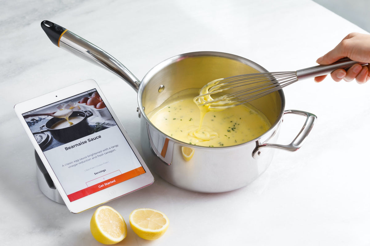 making bearnaise sauce with the hestan cue sauce pot