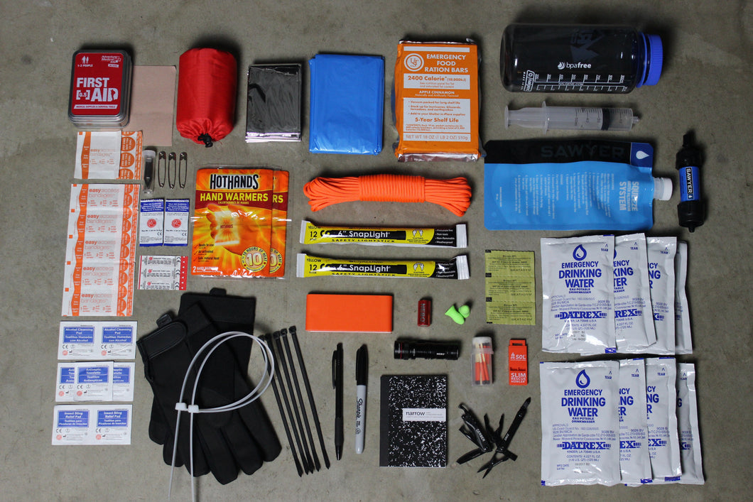 Quick Pack Contents Bug Out Bag | First Aid Kit | Emergency Backpack | Earthquake Kit | Survival Equipment | Gata Pack