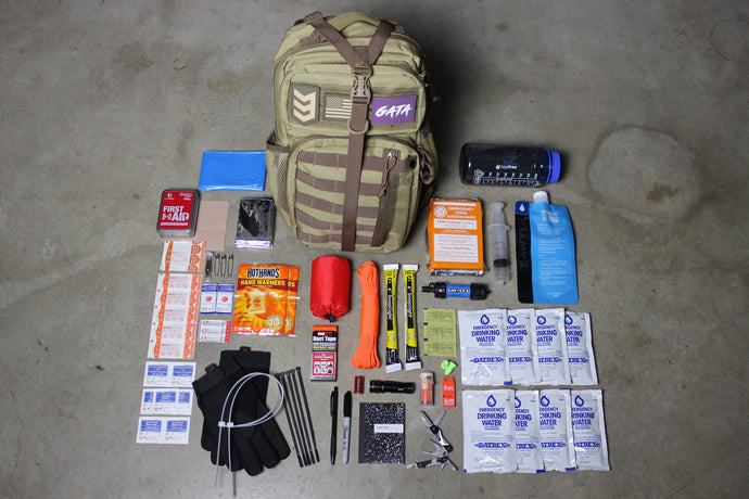 GATA Quick Pack | Bug Out Bag | First Aid Kit | Emergency Backpack | Earthquake Kit | Survival Equipment | Gata Pack
