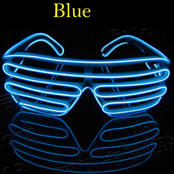 Flashing EL Wire Led Glasses Luminous Party Decorative Lighting Classic Gift Bright Light Gift Glow Sunglass Rave Costume