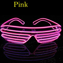 Load image into Gallery viewer, Flashing EL Wire Led Glasses Luminous Party Decorative Lighting Classic Gift Bright Light Gift Glow Sunglass Rave Costume