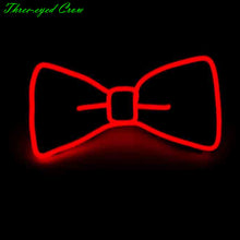 Load image into Gallery viewer, Fashion Men LED EL Wire Necktie Luminous Neon Flashing Light Up Bow Tie for Club Cosplay Party Decoration Gravatas Para Homens