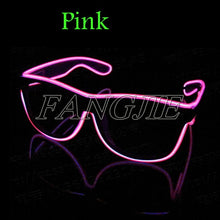 Load image into Gallery viewer, Flashing Glasses EL Wire LED Glasses Glowing Party Supplies Lighting Novelty Gift Bright Light Festival Party Glow Sunglasses