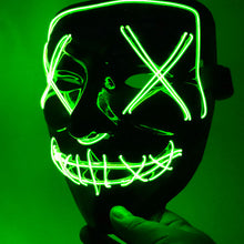 Load image into Gallery viewer, Halloween Mask LED Light Up Party Masks The Purge Election Year Great Funny Masks Festival Cosplay Costume Supplies Glow In Dark