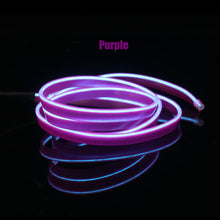 Load image into Gallery viewer, EL Wire 8mm Sewing Edge Neon car Lights Dance Party Car Decor Light Flexible EL Wire lamps Rope Tube LED Strip With DC12V Driver