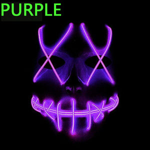 EL Wire Mask Light Up Neon Skull LED Mask For Halloween Party And Concert Scary Party Theme Cosplay Payday Series Masks