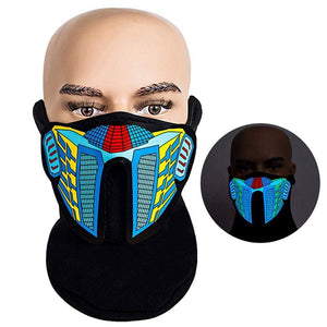 【Big Sale Today】Flashing LED Halloween Party Face Mask