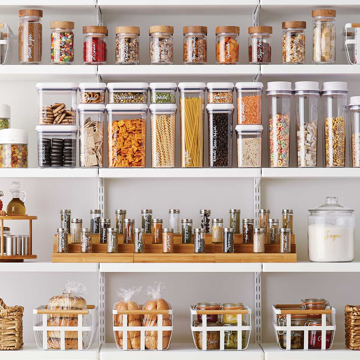 organized pantry for small places