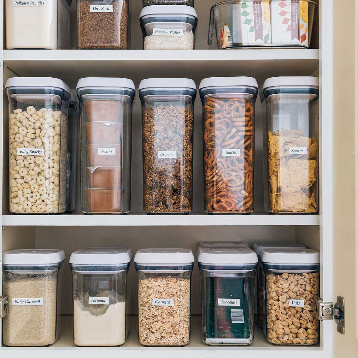 container solutions for kitchen pantry