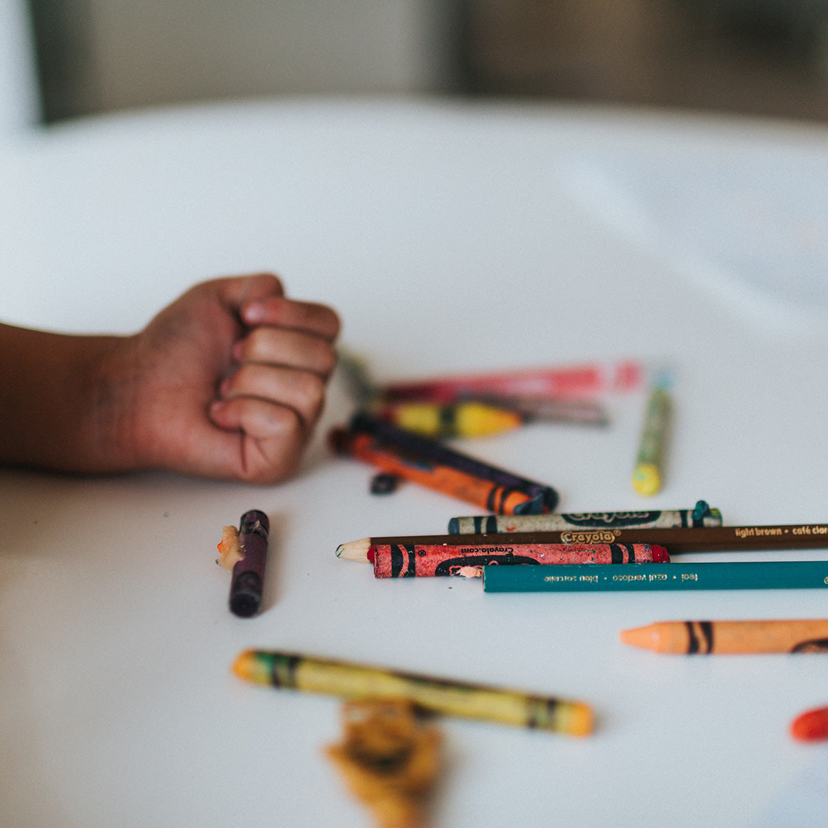 Used crayons for children