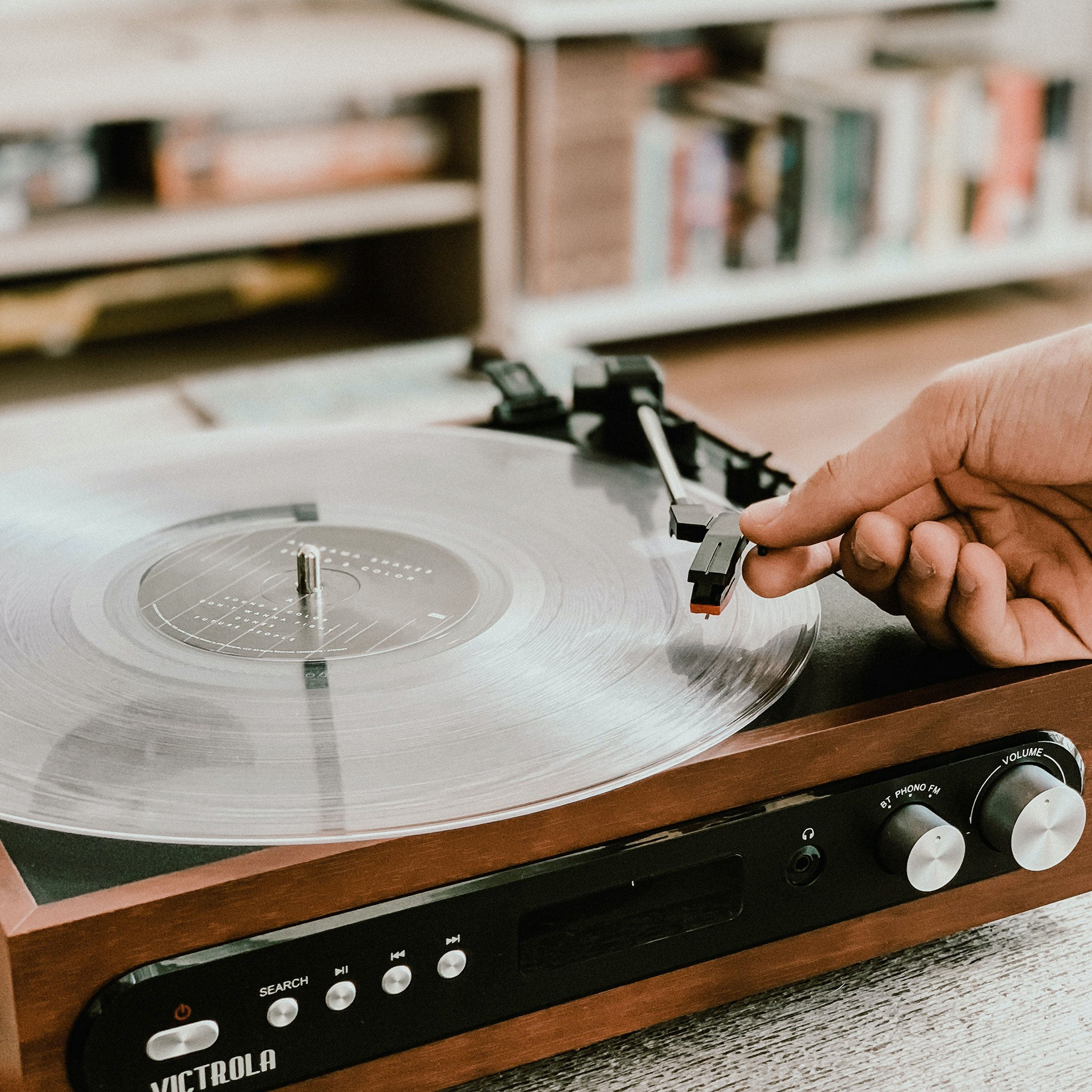 Record player at home
