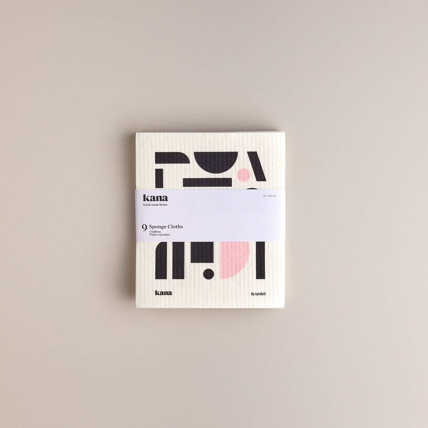 9 pack Swedish dishcloths designed by ByHaus