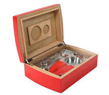 Load image into Gallery viewer, Candy Apple Red Travel Humidor Set