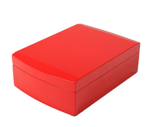 Candy Apple Red Travel Humidor Set Closed View Angled