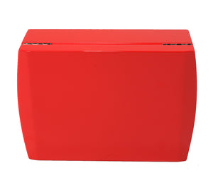 Candy Apple Red Travel Humidor Set Closed View Front