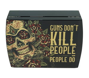 Guns Don't Kill People Travel Humidor Set Closed View Front