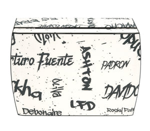 White with Black Graffiti Travel Humidor