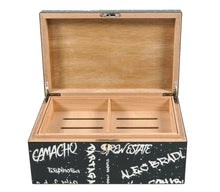 Load image into Gallery viewer, Black with White Graffiti Humidor 100 Count