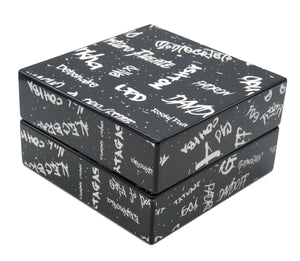 Black with White Graffiti Cigar Ashtray