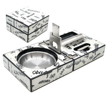 Load image into Gallery viewer, White with Black Graffiti Cigar Ashtray