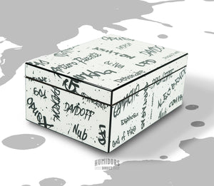 White with Black Graffiti Humidor 50 Count