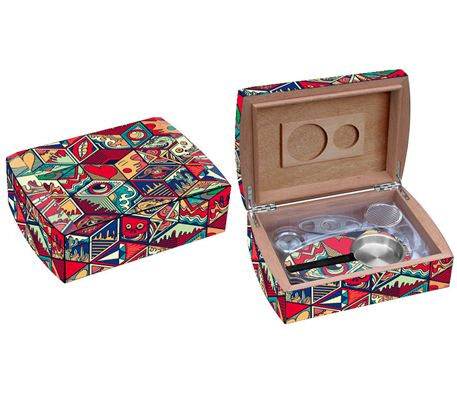 Jungle Love Collage Travel Humidor