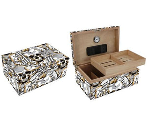 Skull and Roses Cigar Humidor 100 Count