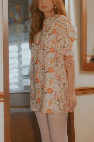 Laro Dress (in Orange Floral)