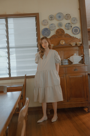 Mayumi Dress (in Checks)