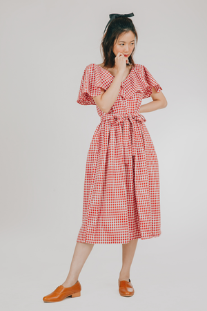Amihan Dress (in Red Gingham)