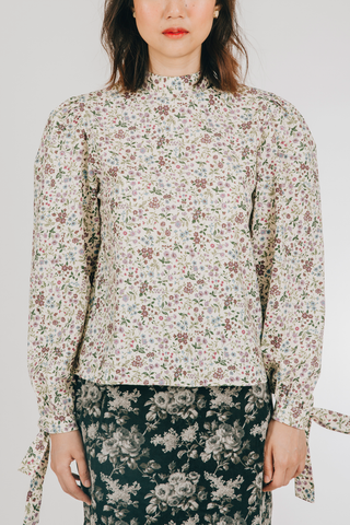 Munti Top (in Purple Floral)