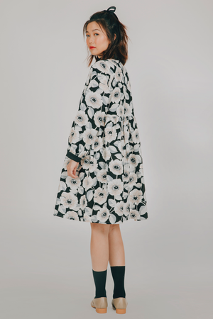 Hiraya Dress (in Black Floral)