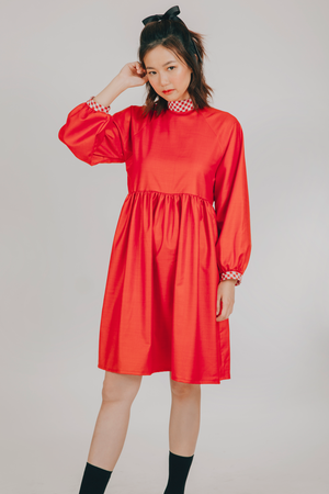 Hiraya Dress (in Red Gingham)