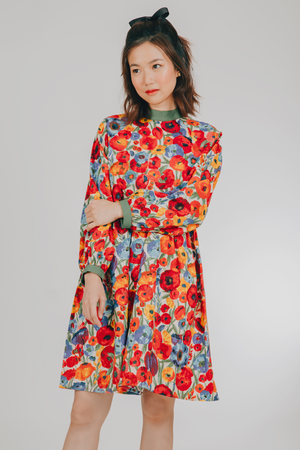 Hiraya Dress (in Red Floral)